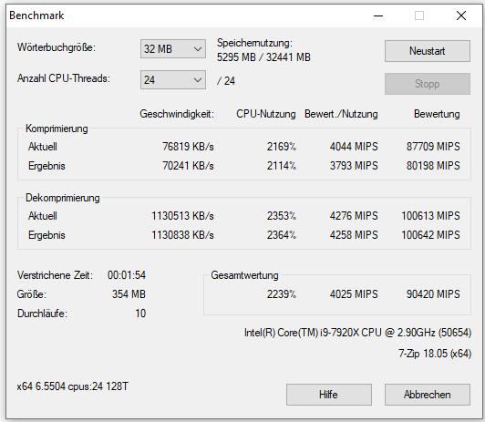 Intel Core i9-9900K: Leistungsaufnahme, Temperaturen und