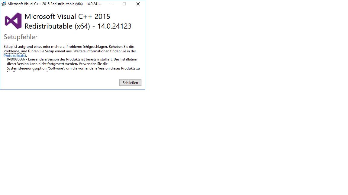 Deinstallation von Microsoft Visual C++ 2015 Redistributable (x86 ...