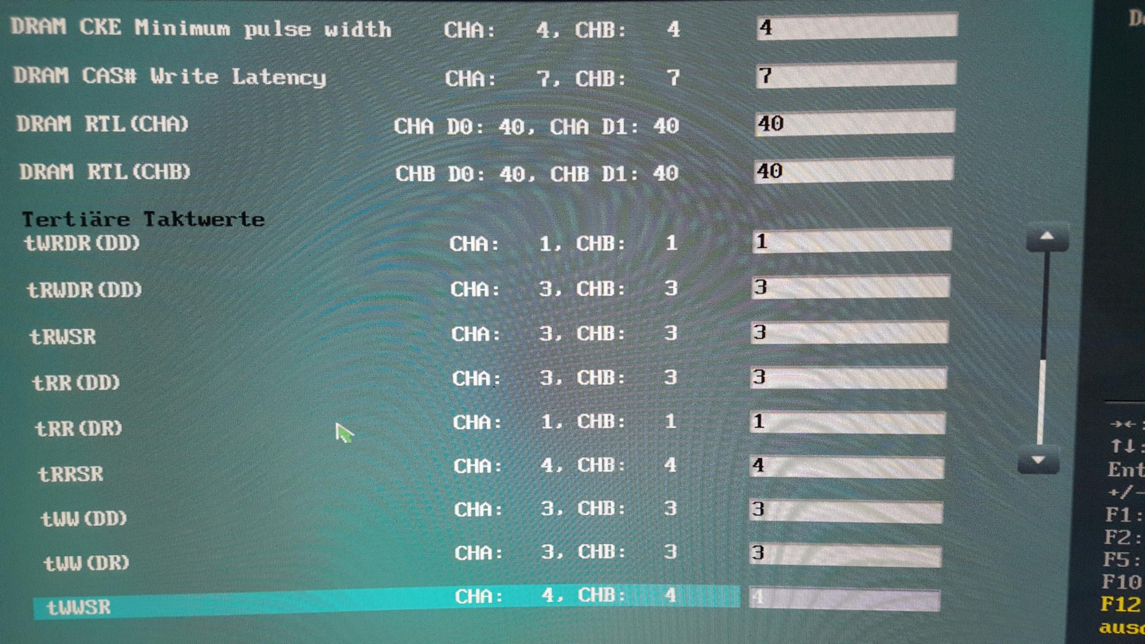 RAM Timings Optimieren
