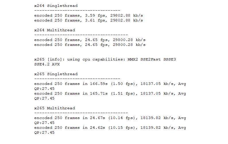 x264/x265 ST vs  MT x64 CPU-Encoding Benchmark - Seite 3