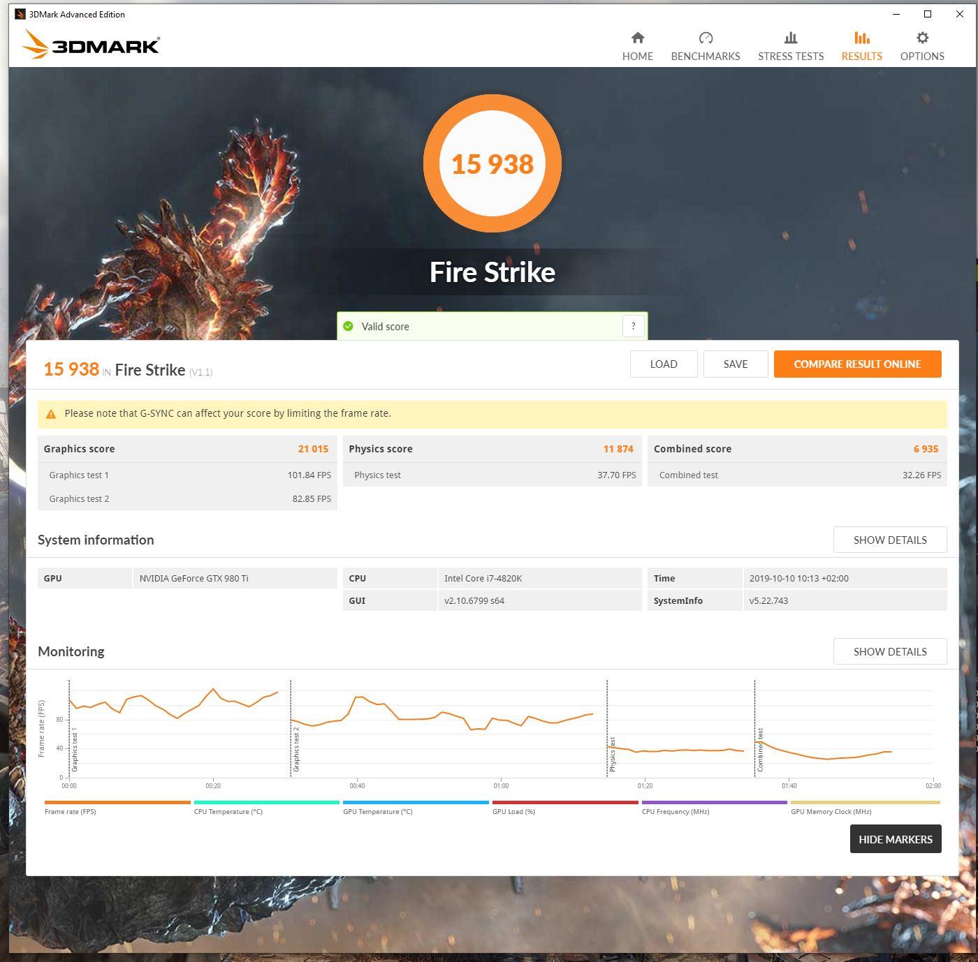 3DMarkt Firestrike/Extrem/Ultra