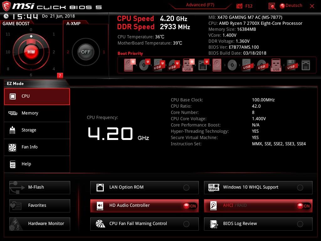 Klicken Sie auf die Grafik für eine größere Ansicht  Name:600. MSI Click Bios 5 - EZ Mode - CPU.jpg Hits:49 Größe:182,4 KB ID:1000601