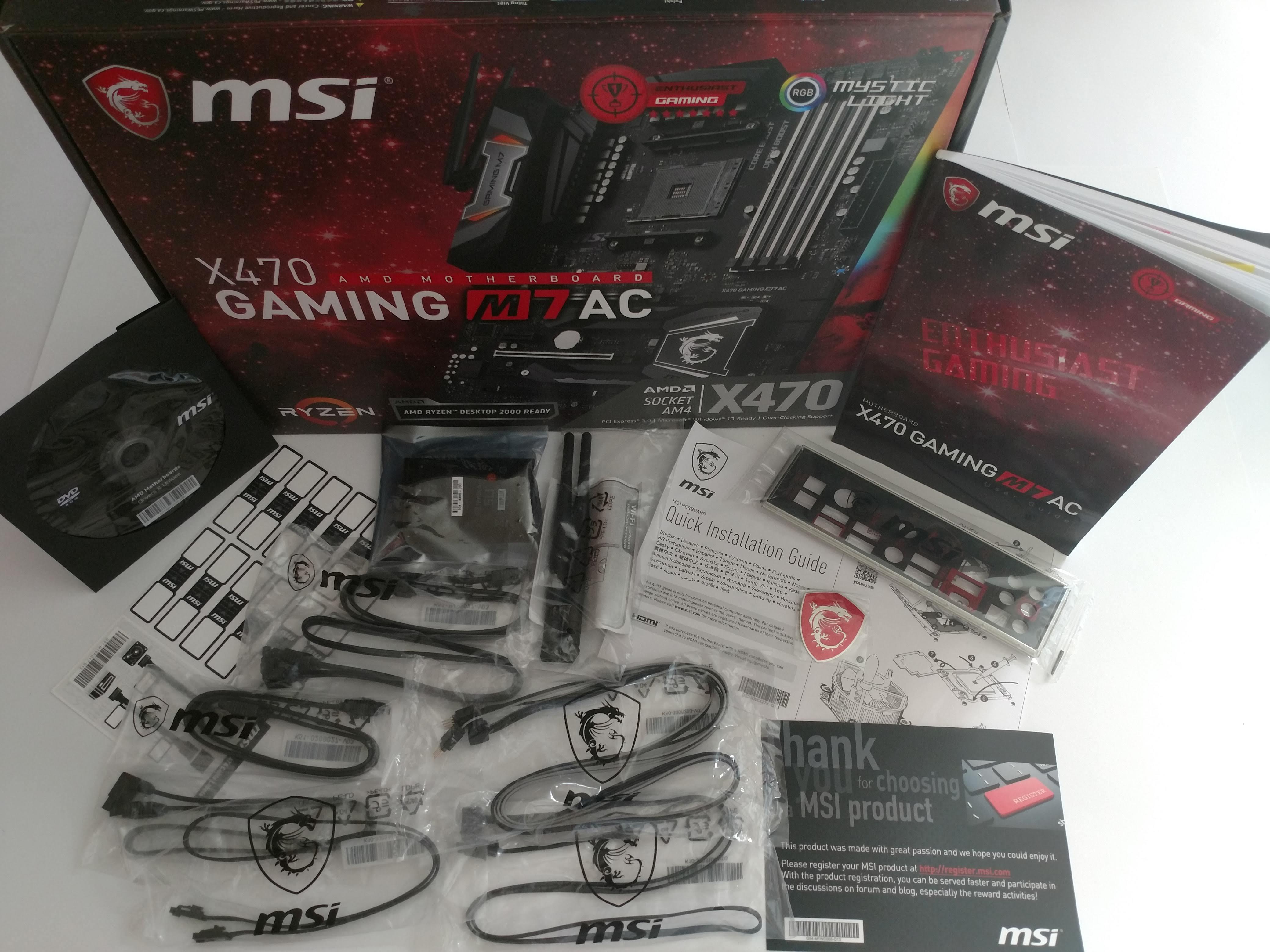 Klicken Sie auf die Grafik für eine größere Ansicht  Name:8. MSI X470 Gaming M7 AC  Karton mit Zubehör.jpg Hits:40 Größe:826,3 KB ID:1000578
