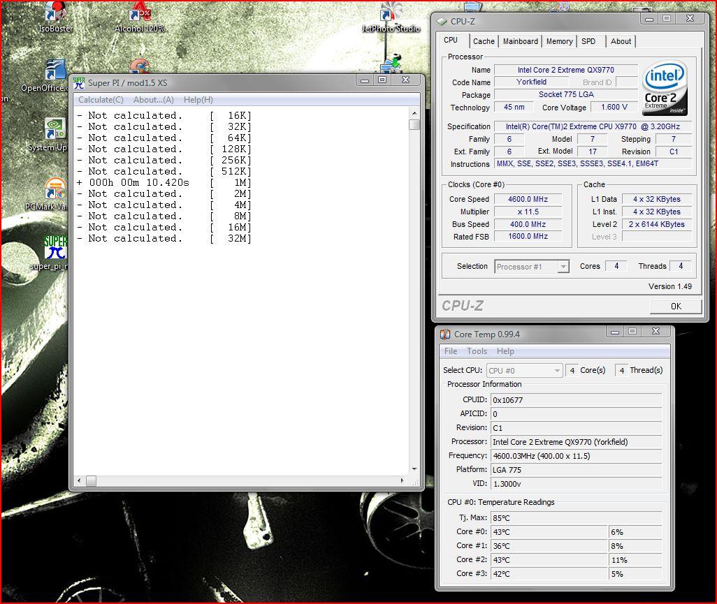 Bench screenshots