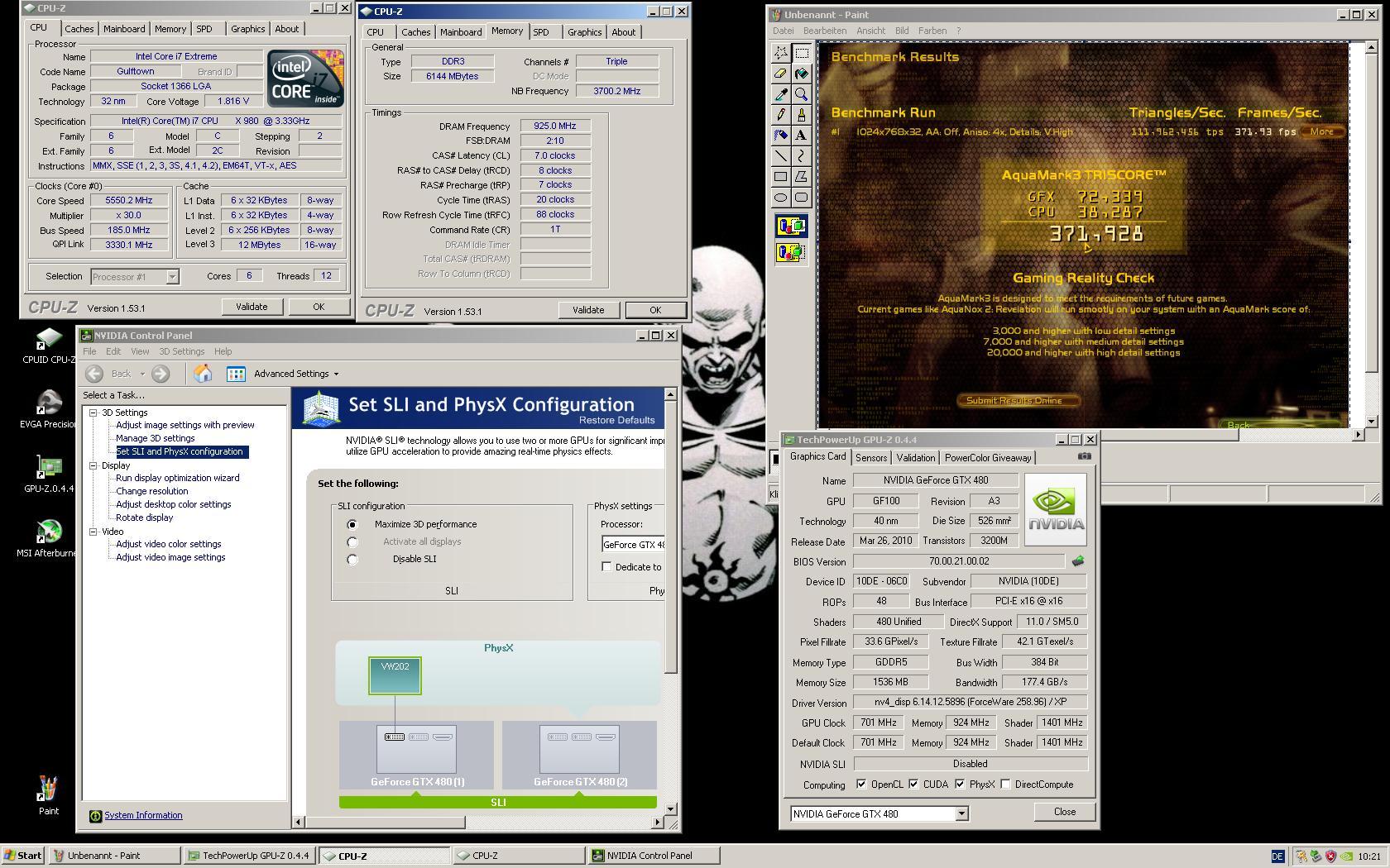 Sli mit 2x 480 GTX/Sli wird nicht im Nvidia menü angezeigt