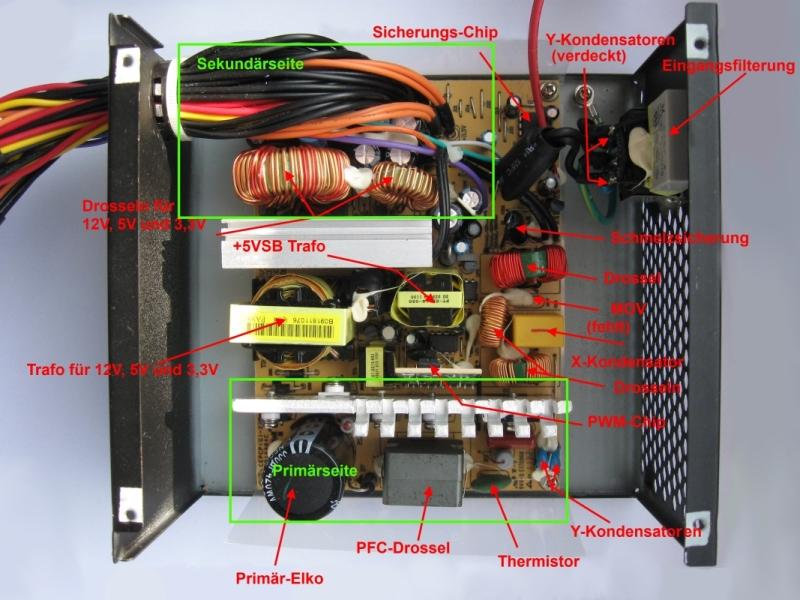 review der aufbau eines netzteils anhand eines lc power lc6560gp3 erkl rt. Black Bedroom Furniture Sets. Home Design Ideas