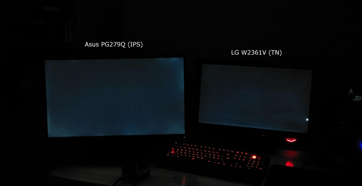 IPS vs  TN] Asus PG279Q gegen einen alten TN-Monitor von LG