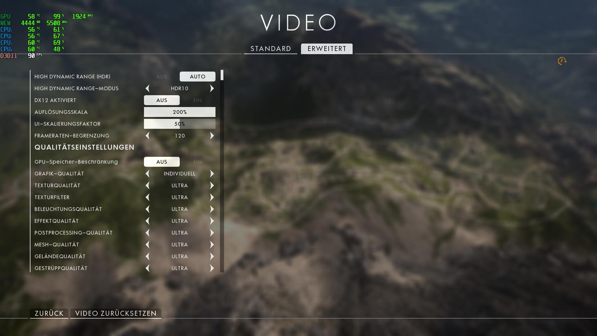 Niedrige FPS in Spielen