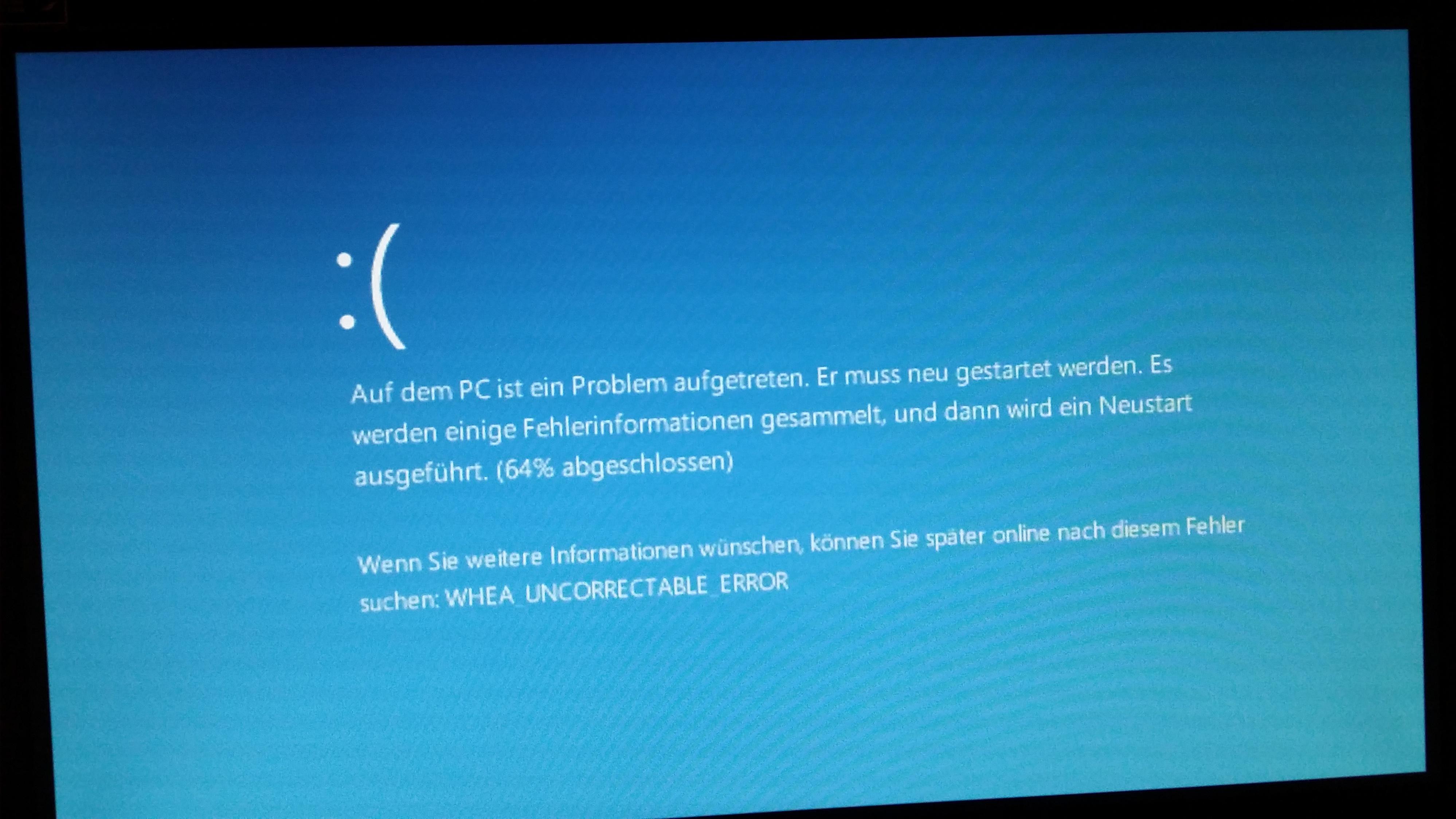 Whea uncorrectable error bluescreen probleme bluescreen jpg