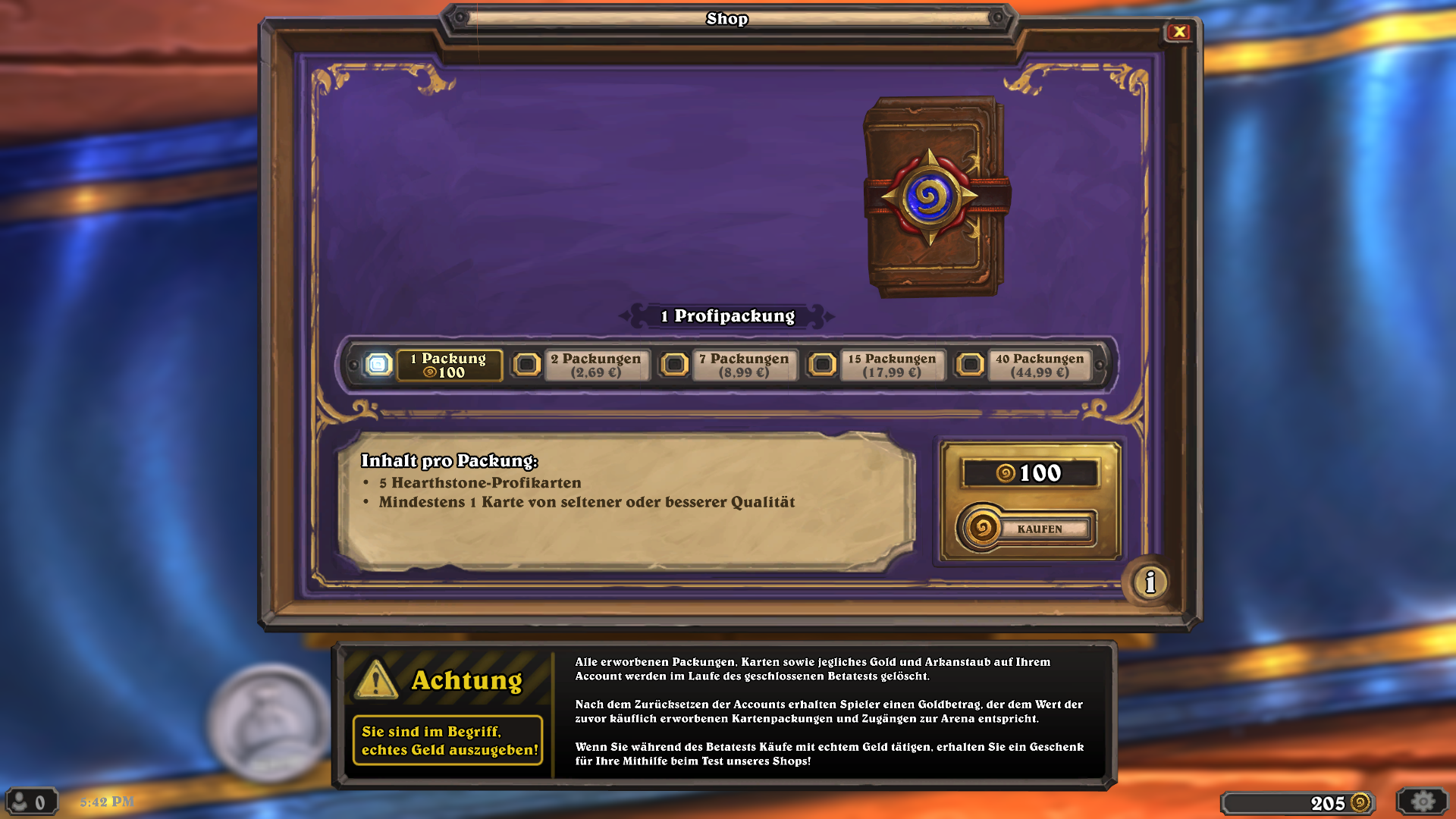 how to get free pack hearthstone ipad