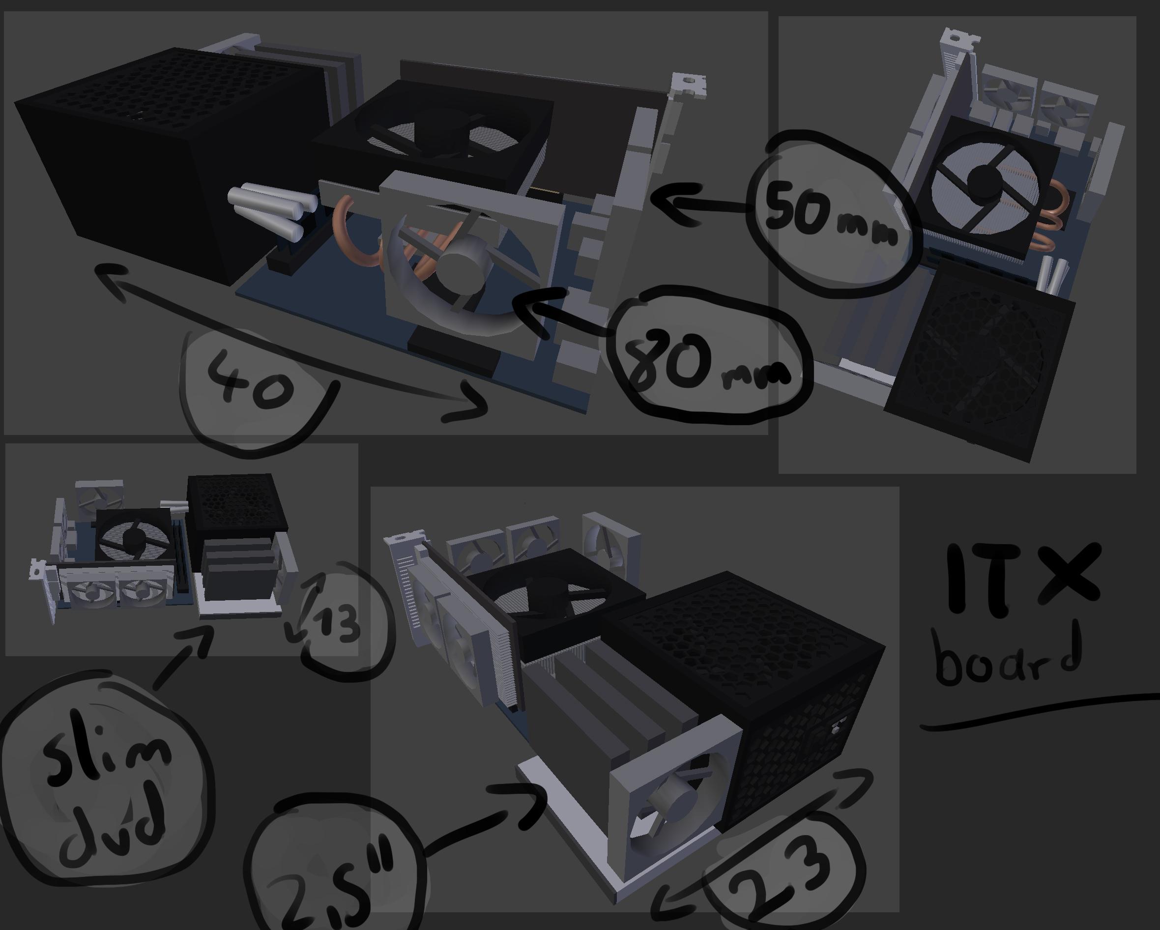mini pc case konzept umsetzbar. Black Bedroom Furniture Sets. Home Design Ideas