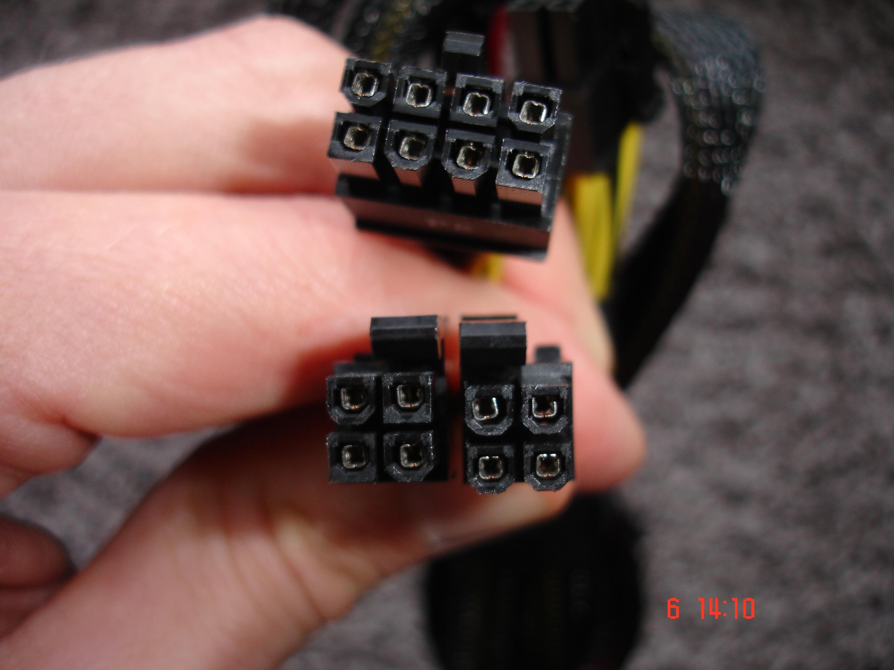 Stromversorgung Prozessor: CPU1 P4 CPU2 P8