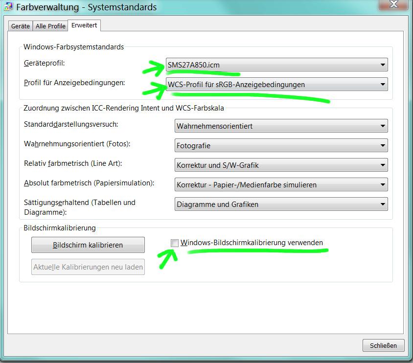 Farbmanagement, ICC-Version 4-Profile und ICC-Version 2-Profile ...