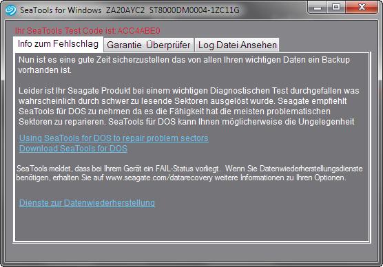 Neue HDD Probleme - siehe CrystalDiskInfo und SeaTools - Seite 2