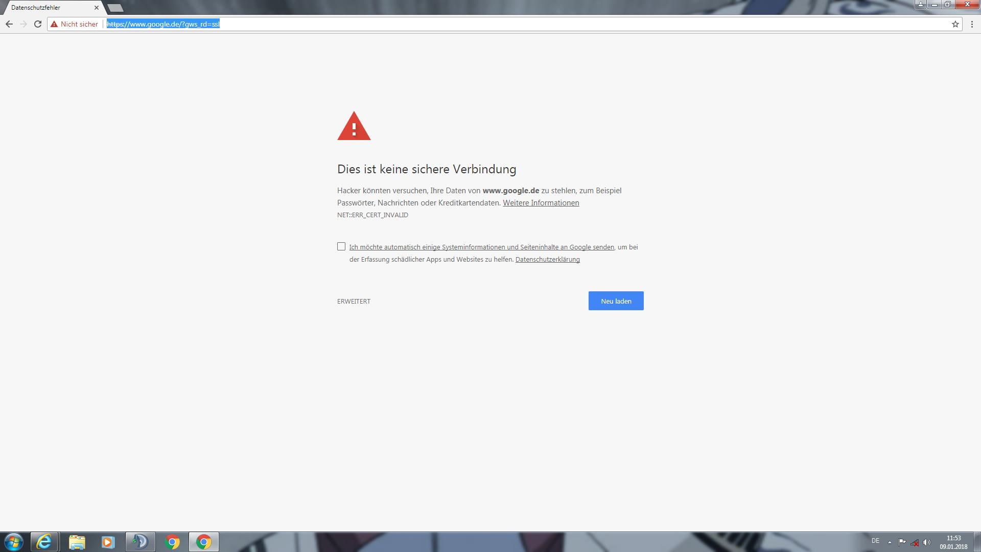 problem mit google