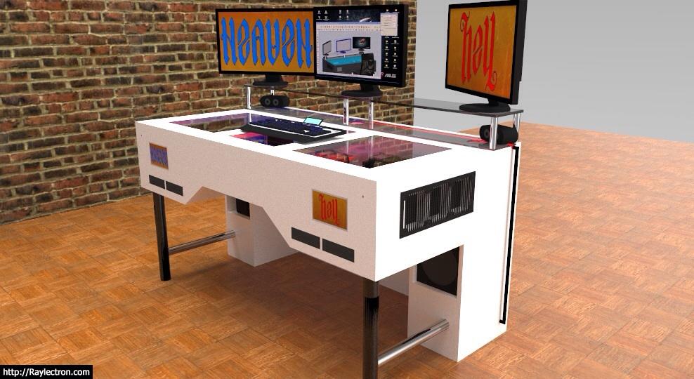 langzeittagebuch heaven hell deskcon projekt 2 pcs in einem schreibtisch. Black Bedroom Furniture Sets. Home Design Ideas