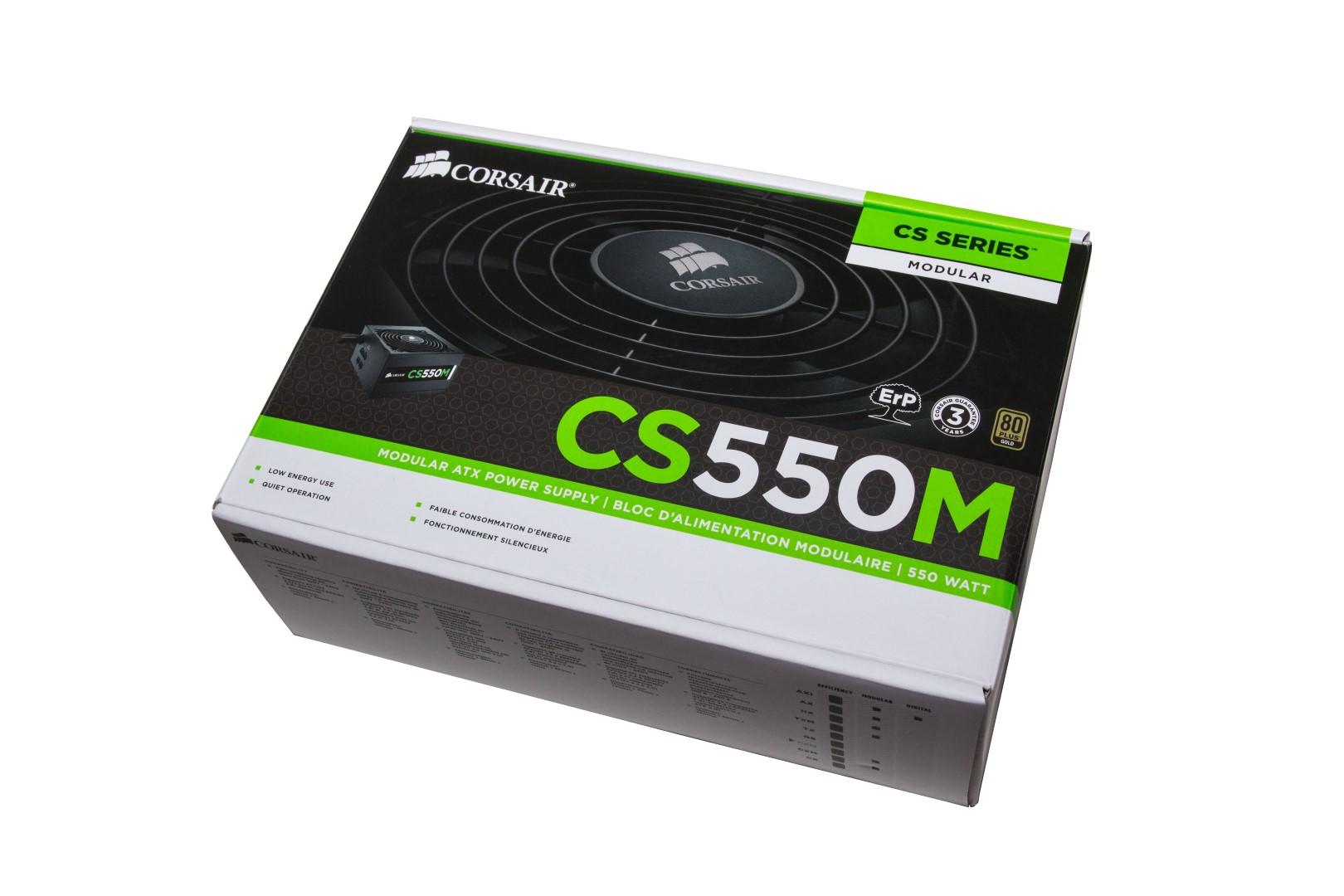 Review] Corsair CS550M - Kleines Netzteil ganz groß?