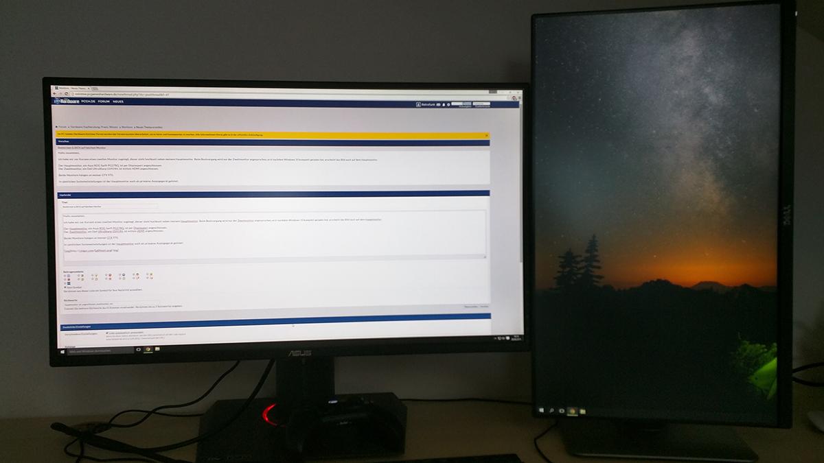 einstellung mehrere monitore