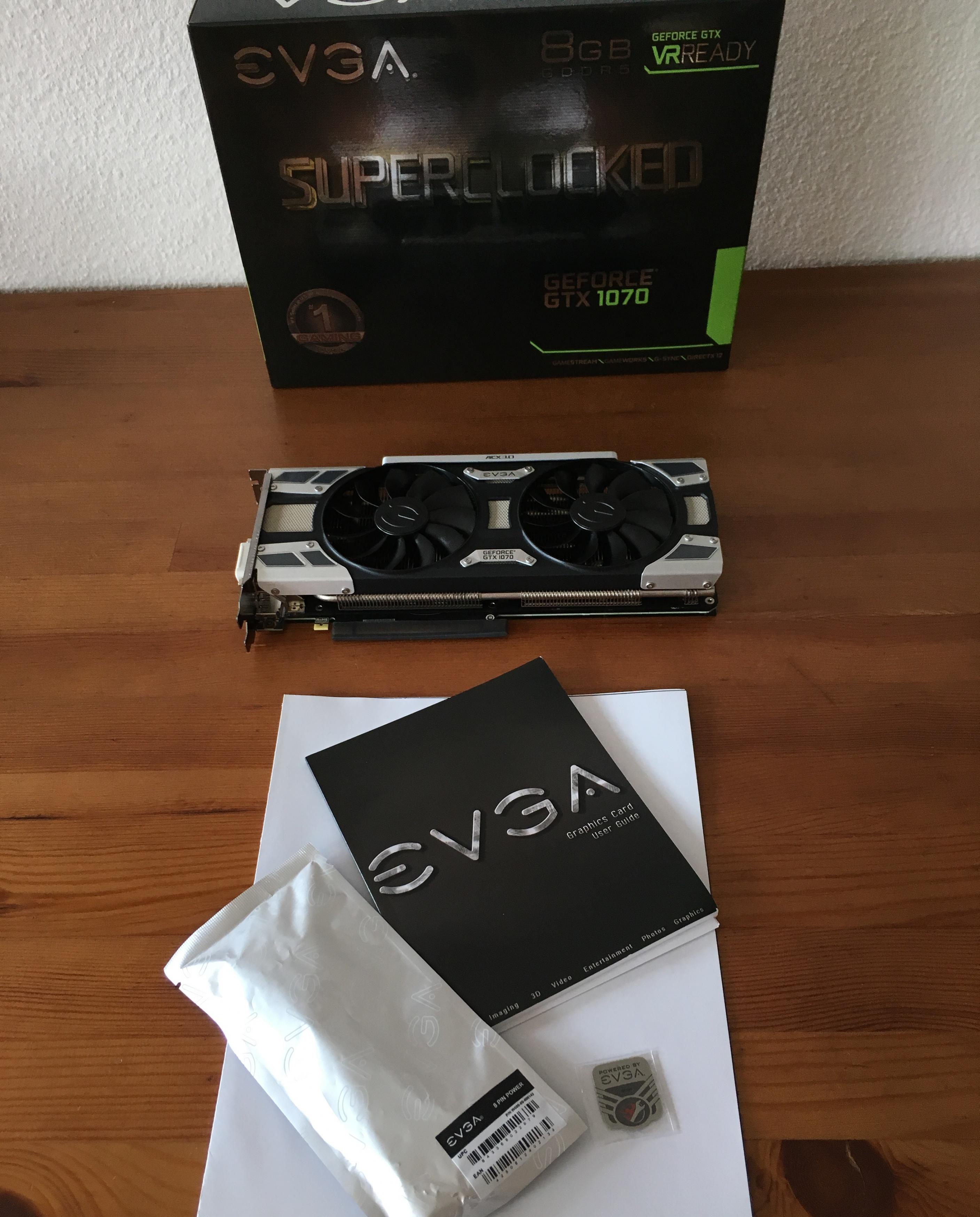 REVIEW] EVGA GeForce GTX 1070 SC Gaming ACX 3 0 - EVGA GTX