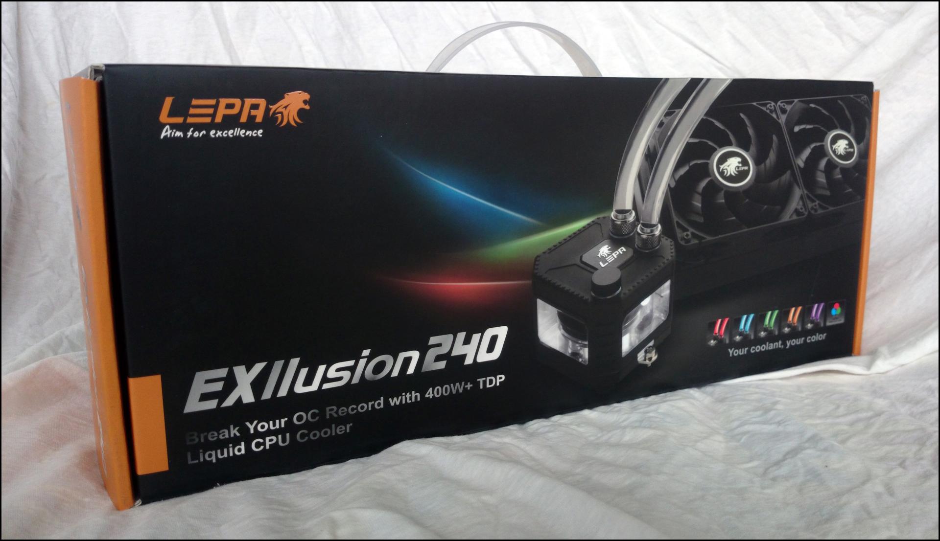 Die Verpackung der Lepa EXllusion 240