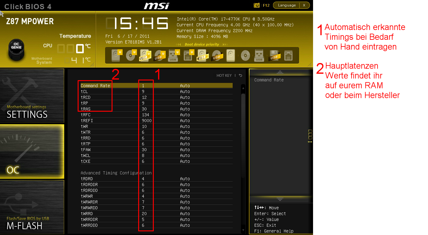 Klicken Sie auf die Grafik für eine größere Ansicht  Name:MSI Timings.png Hits:10210 Größe:304,1 KB ID:671226