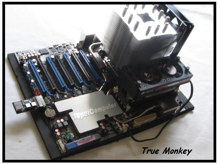 Meine erstes benchsys für 4 GPU@  x16     7xPCIe 16 + externen Poster