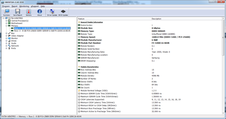 GSkill Ripjaw V 3200 CL16 2x8GB
