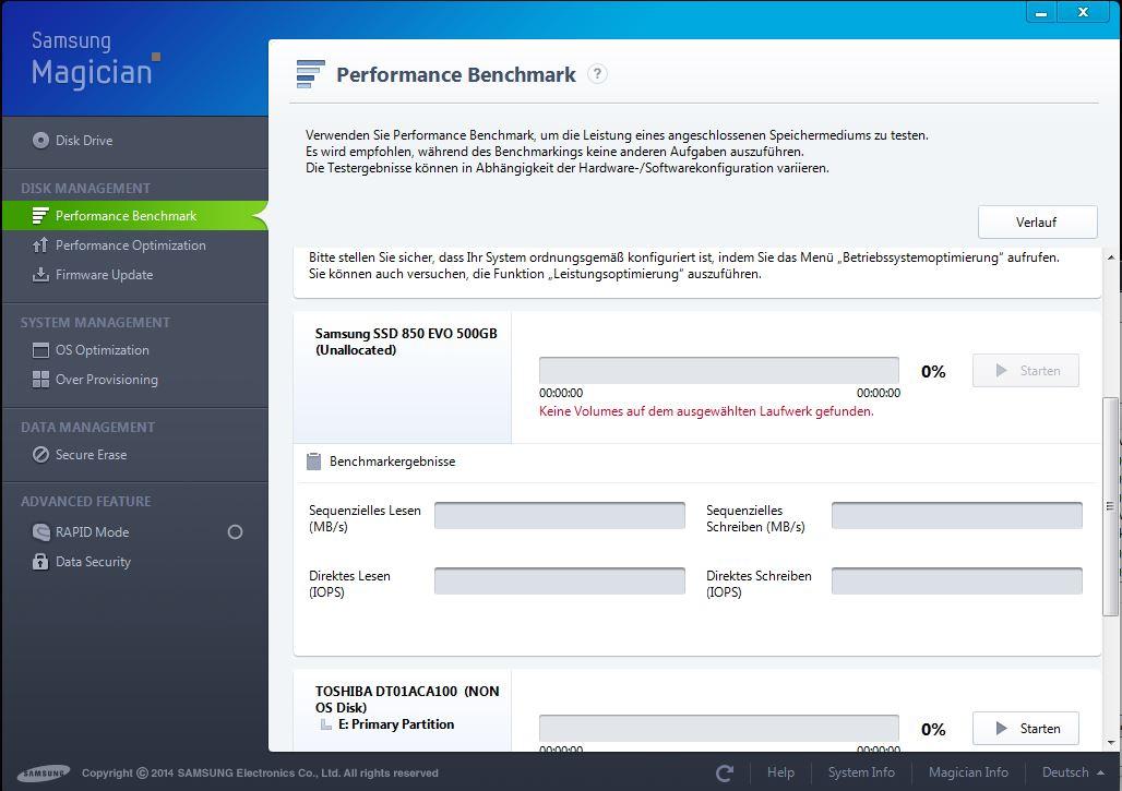 SSD wird nicht erkannt: Samsung 850 EVO 500GB