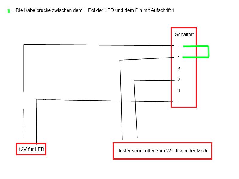 Richtigen Anschluss von Vandalismustastern mit LEDs - Seite 2