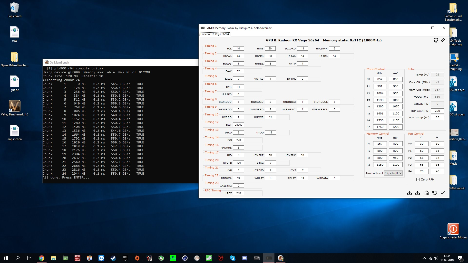 AMD Radeon RX Vega 64 und RX Vega 56 Overclocking/Undervolting