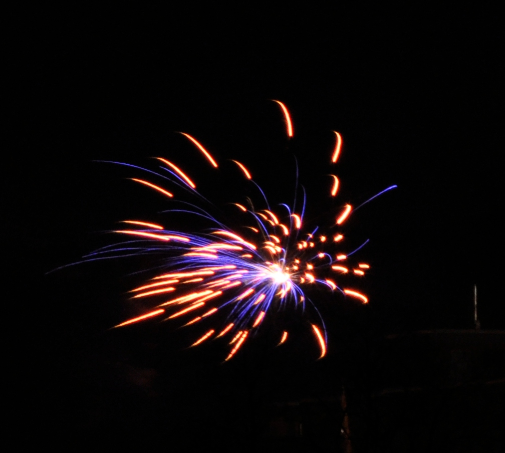 Silvester 2012 blaue Rakete.JPG