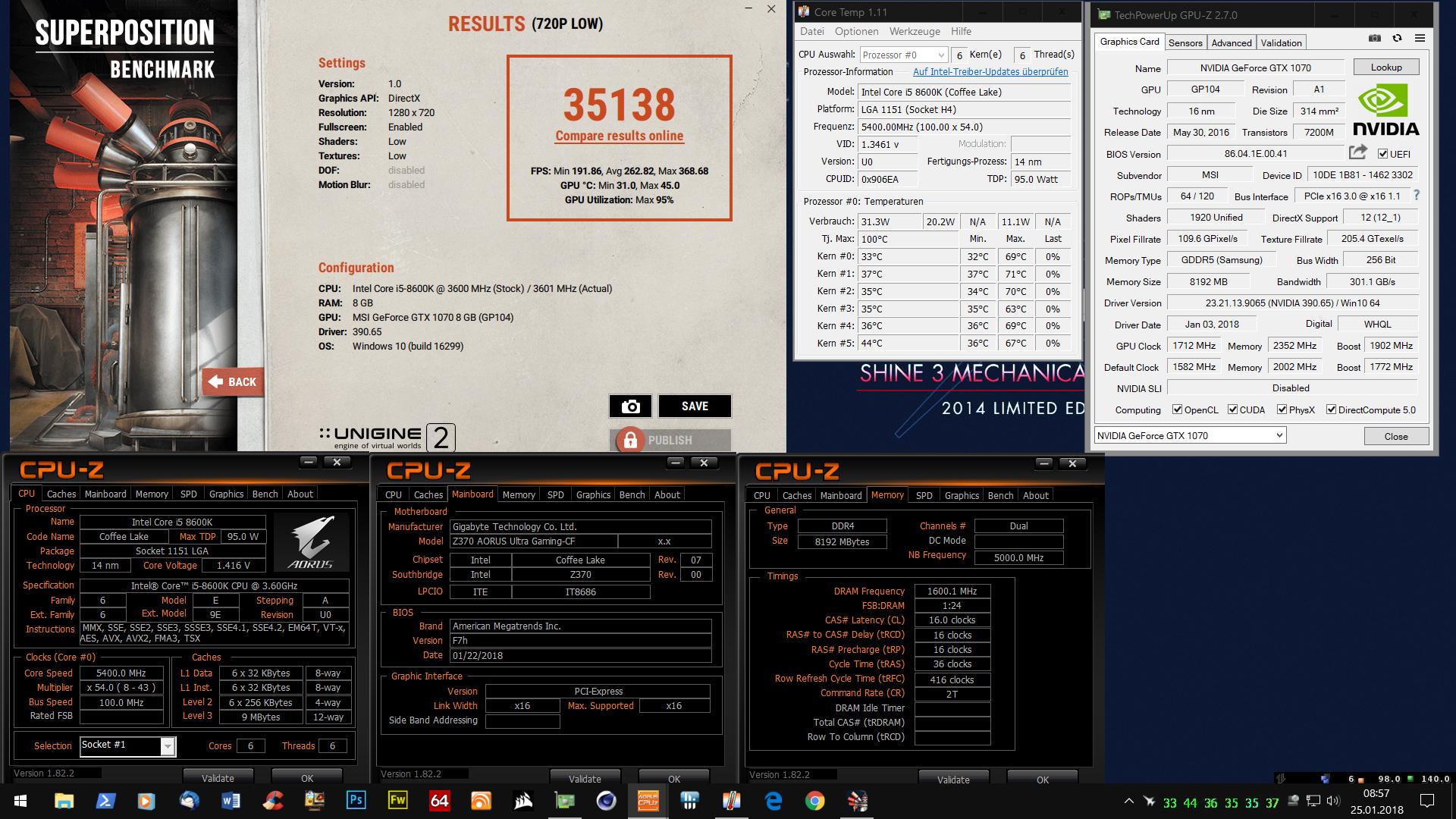 Klicken Sie auf die Grafik für eine größere Ansicht  Name:Superposition Benchmark 720p mit i5 8600K@5,4 GHz.jpg Hits:19 Größe:1,61 MB ID:986078