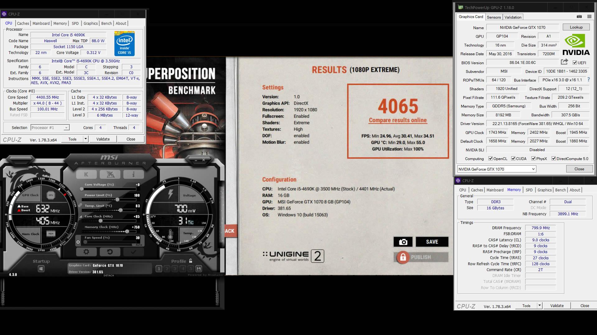 Klicken Sie auf die Grafik für eine größere Ansicht  Name:Superposition Benchmark mit MSI GTX 1070 Gaming X Extreme.jpg Hits:226 Größe:334,0 KB ID:948234