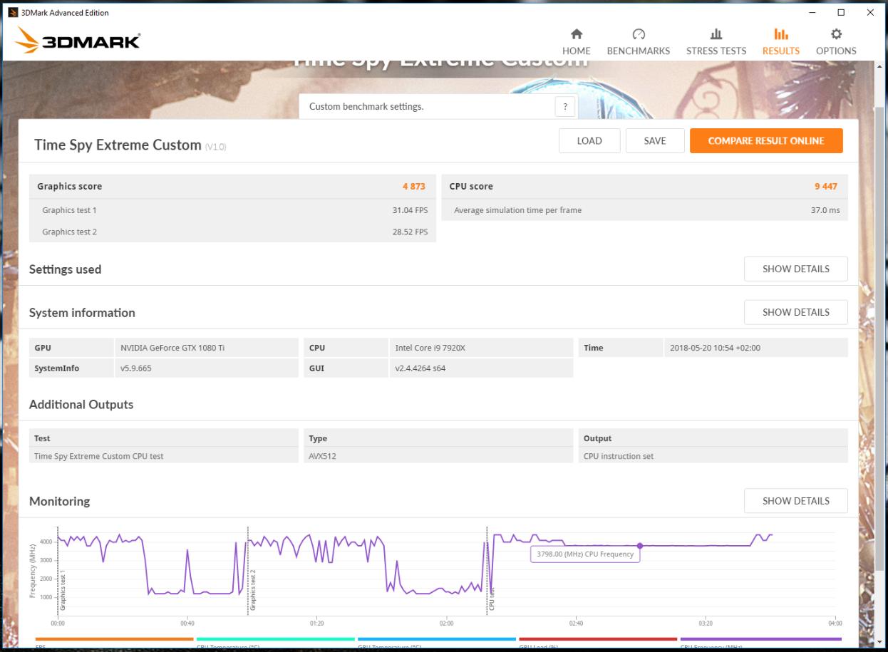 Klicken Sie auf die Grafik für eine größere Ansicht  Name:Tome Spy extrem AVX 512.PNG Hits:16 Größe:454,0 KB ID:997812