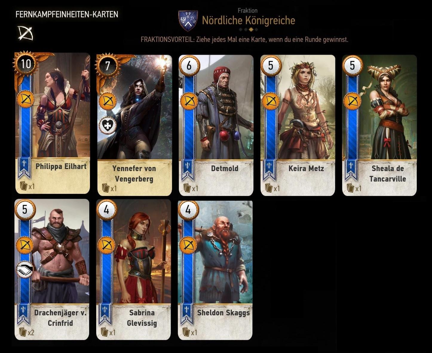 The Witcher 3 Gwint Karten Velen