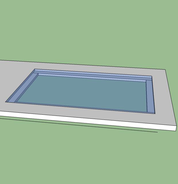 glasplatte in tisch einlassen