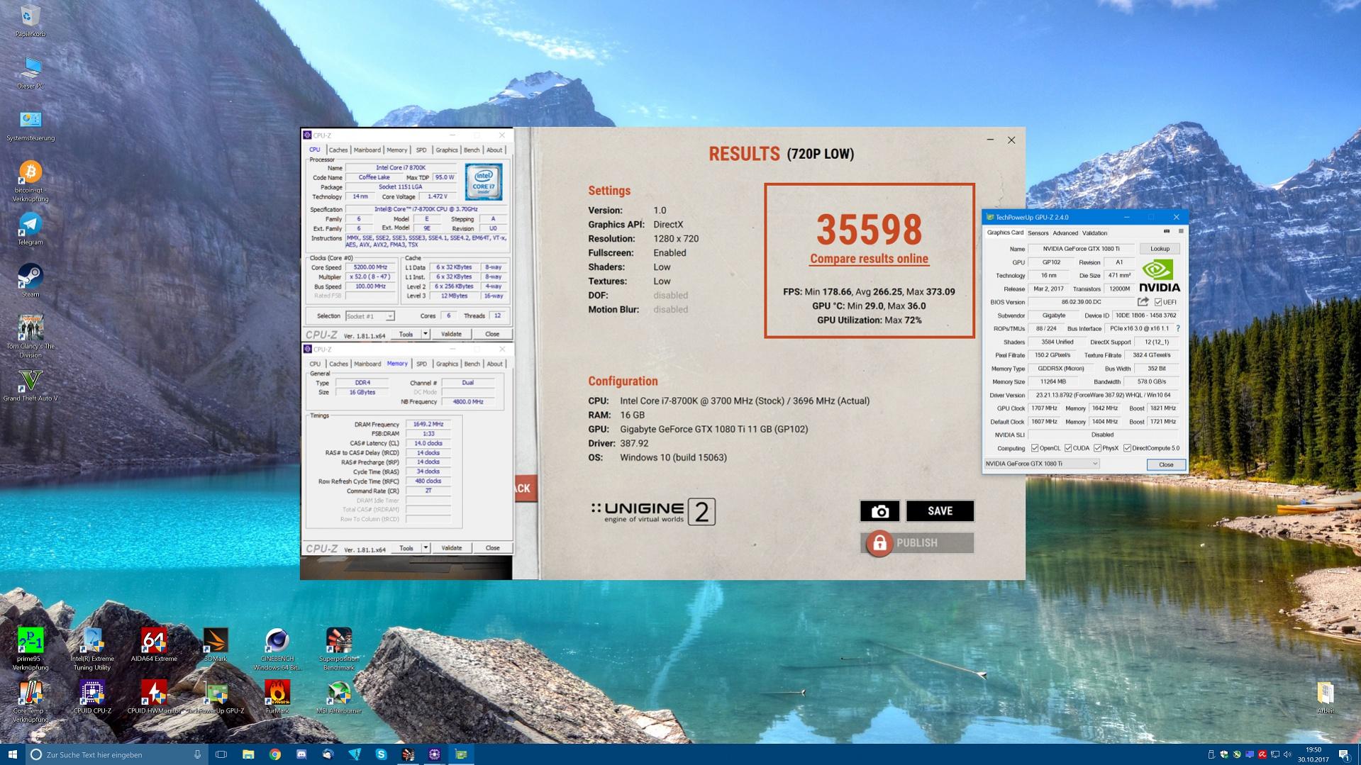 Klicken Sie auf die Grafik für eine größere Ansicht  Name:Unigine720p.jpg Hits:88 Größe:763,3 KB ID:976596