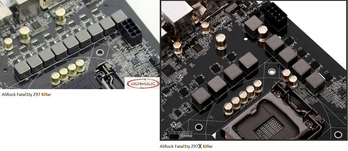 Klicken Sie auf die Grafik für eine größere Ansicht  Name:Vergleich ASRock Fatal1ty Z97 und Z97X Killer VRM.png Hits:1332 Größe:974,4 KB ID:766653