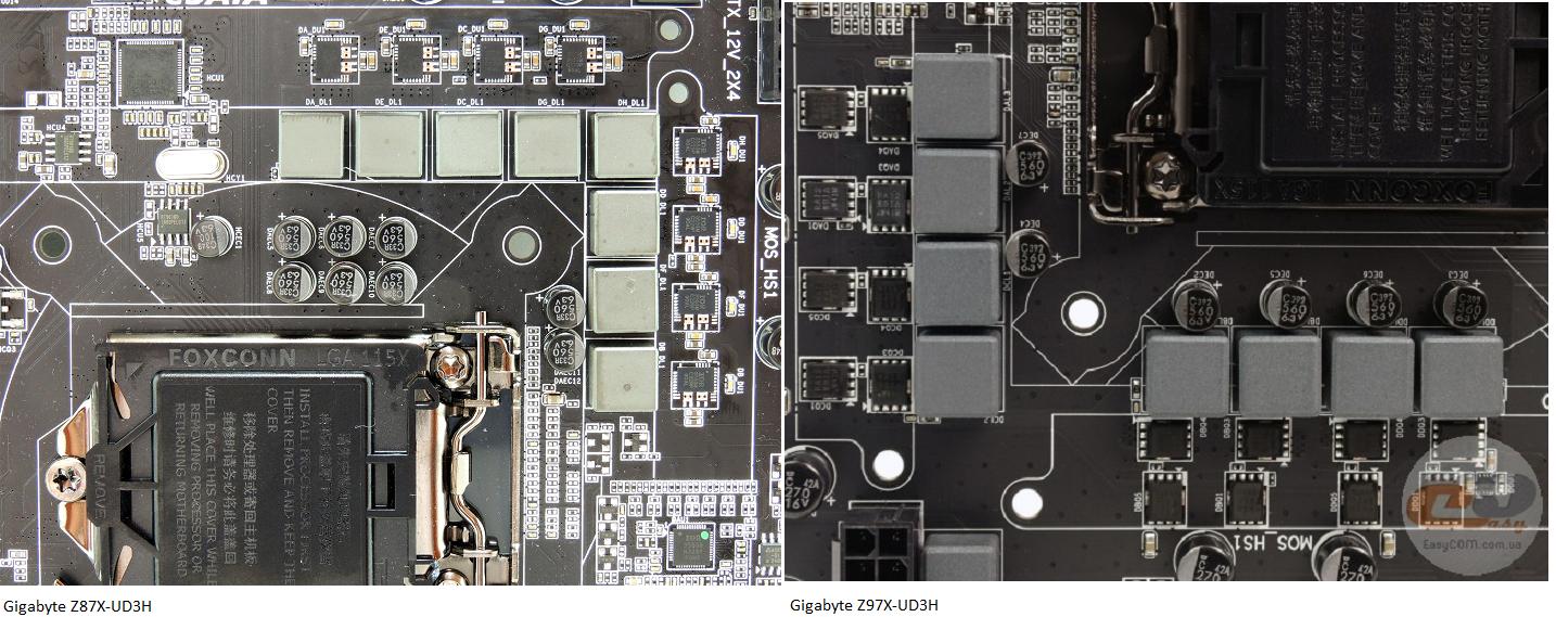 Klicken Sie auf die Grafik für eine größere Ansicht  Name:Vergleich Gigabyte Z87X und Z97X UD3H VRM.png Hits:1632 Größe:1,45 MB ID:766652