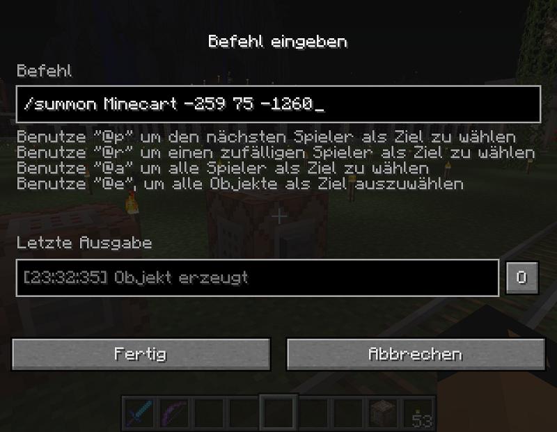 Sammelthread Befehlsblöcke Command BlocksMC - Minecraft spieler fallen