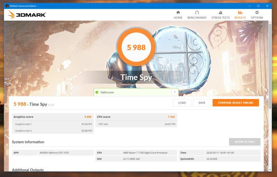 3DMark Ryzen 7 1700