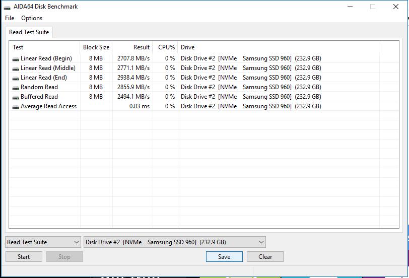AIDA64 1 Samsung 960 EVO 250GB