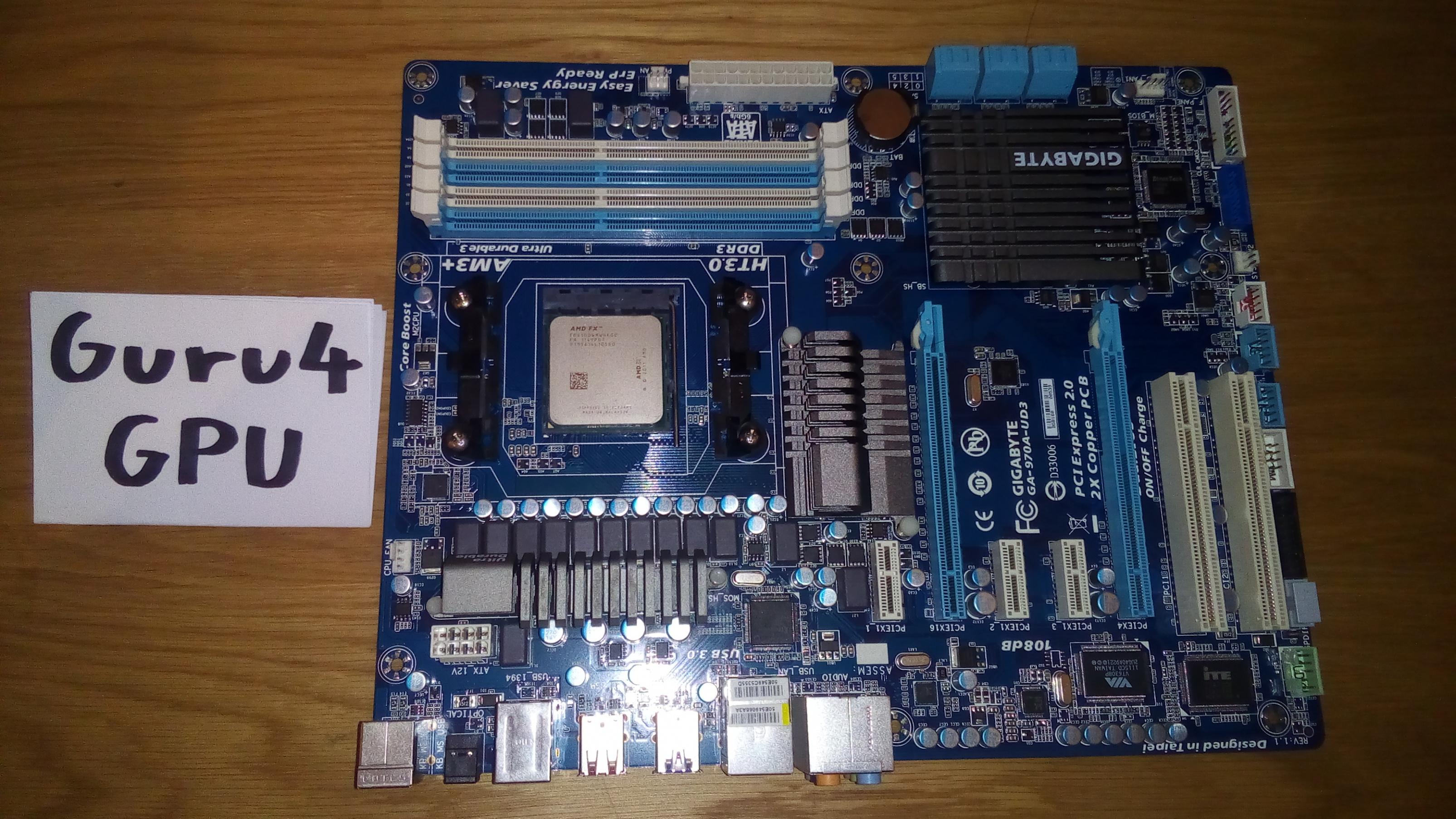 AMD FX-6100 + Gigabyte GA-970A-UD3 Bundle 2
