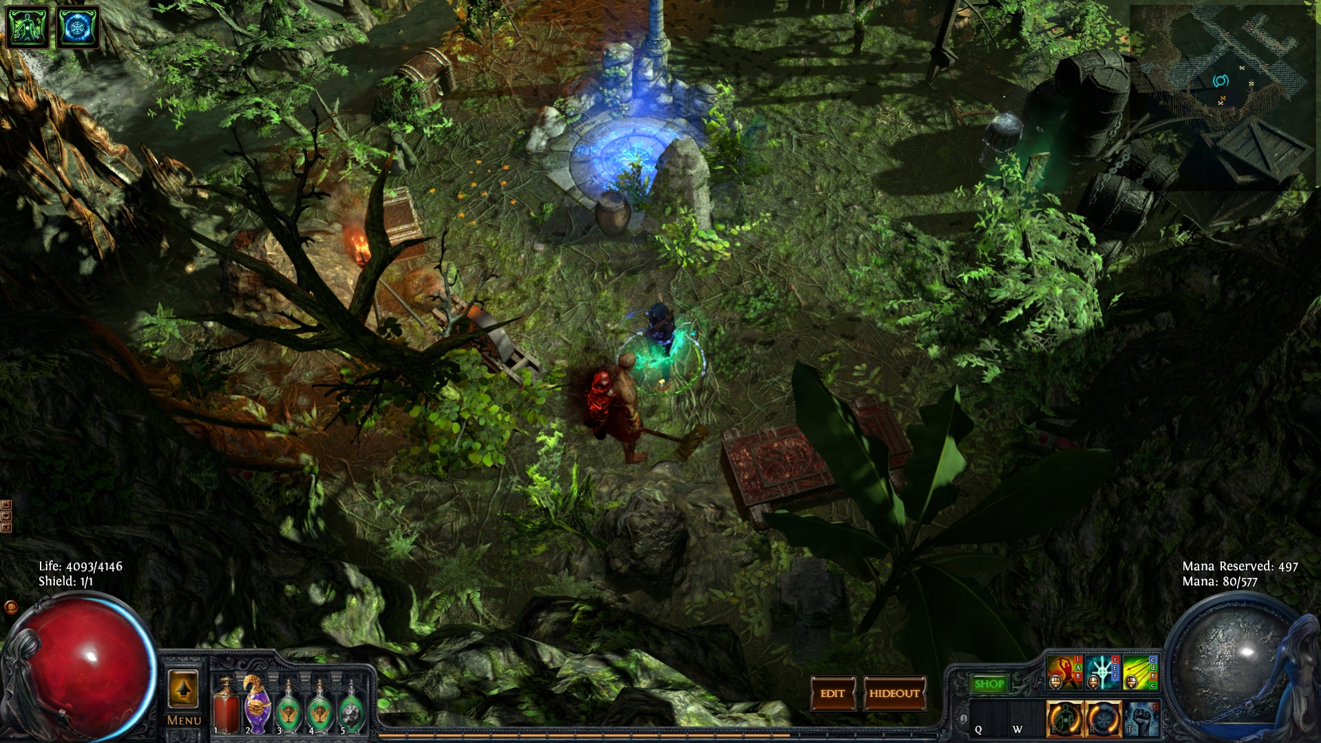 path of exile how to get map device in hideout