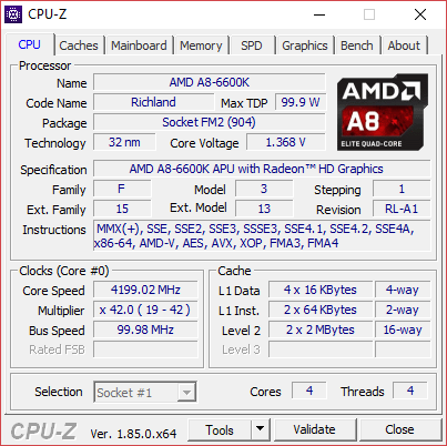 CPU Z 1