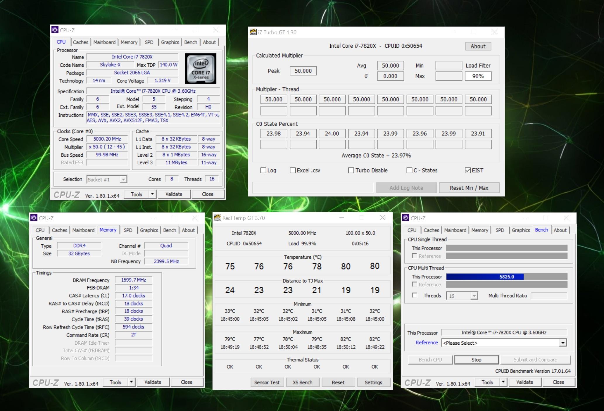 CPU-Z Benchmark last.