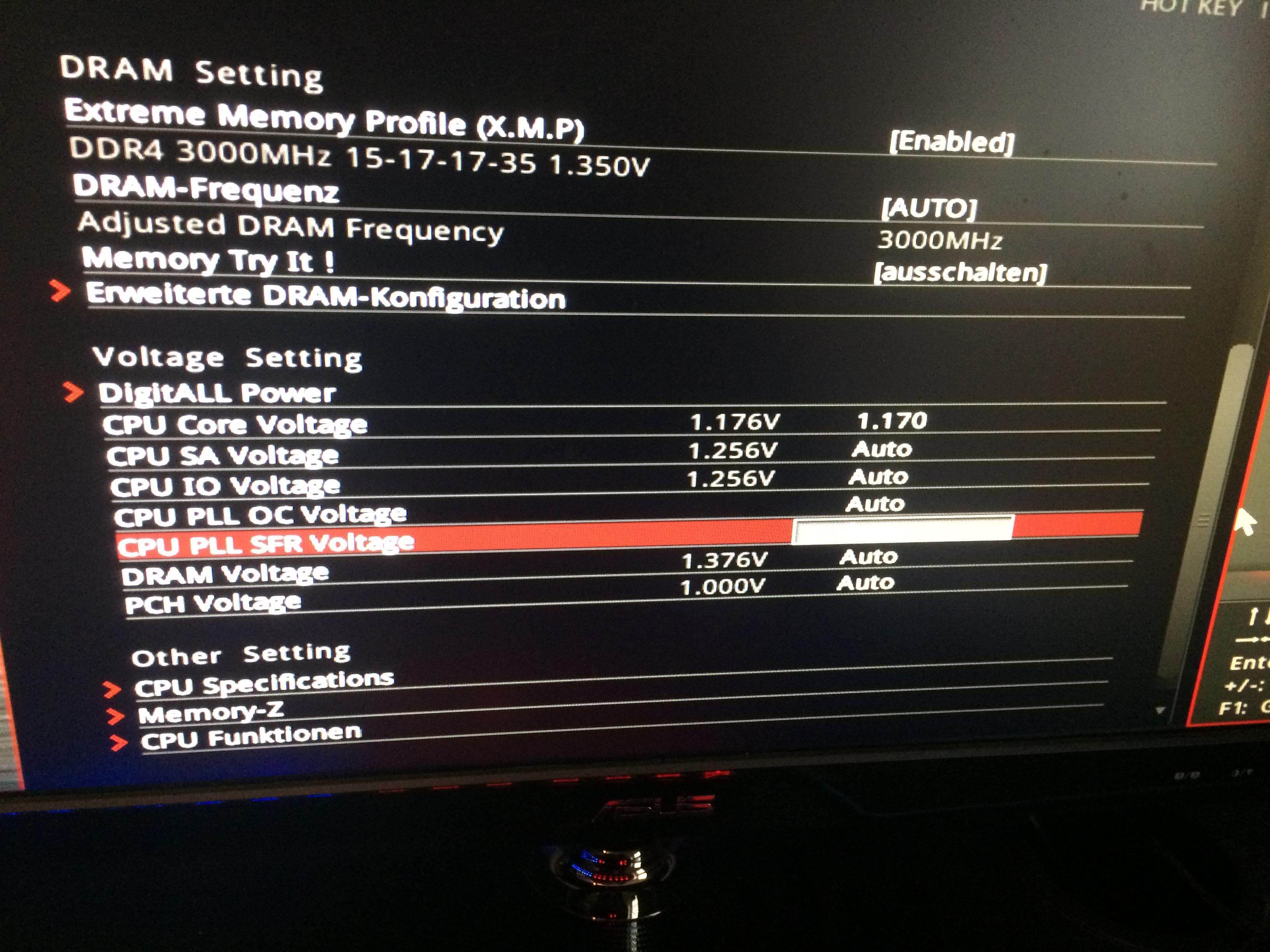 i7 7700K BIOS OC-Settings