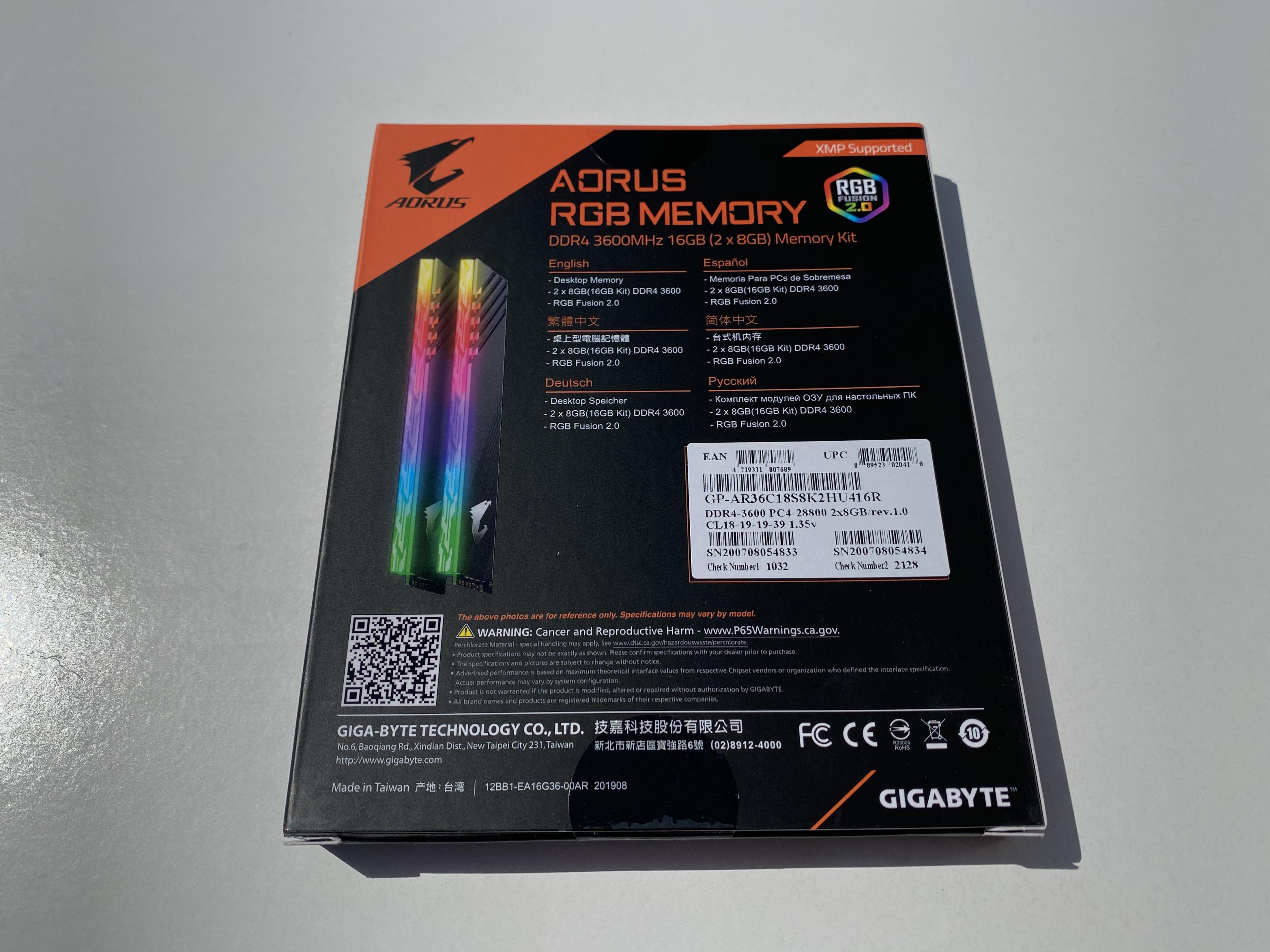 Aorus RGB Memory Review