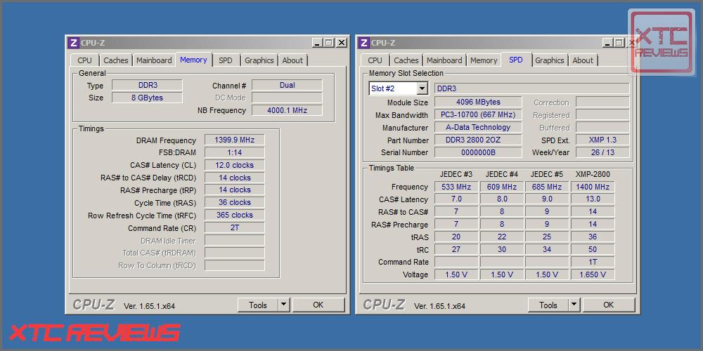 IMG Adata XGP2 DDR 2800 CPU Z