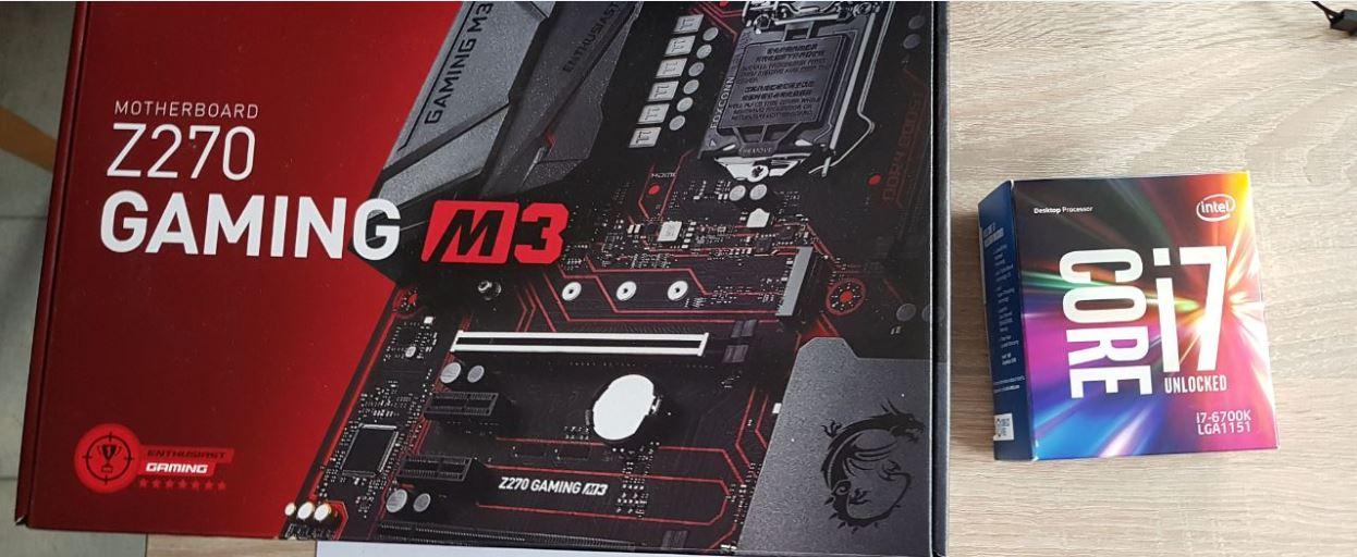 MSI Z270 GAMING M3 + I7-6700K